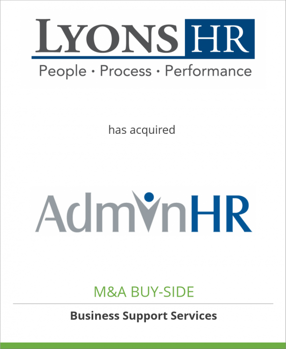 Lyons HR has acquired AdminHR, LLC