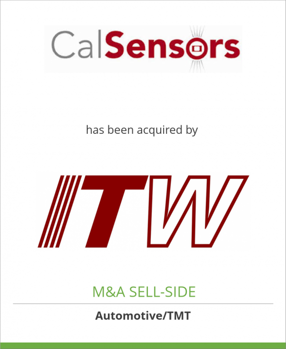 Cal-Sensors, Inc. has been acquired by Illinois Tool Works