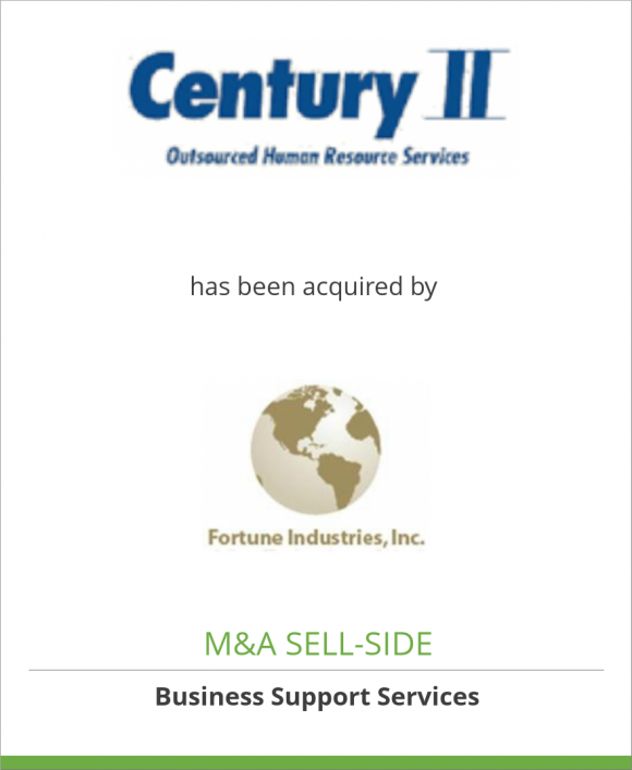 Century II Staffing, Inc. has been acquired by Fortune Industries, Inc.