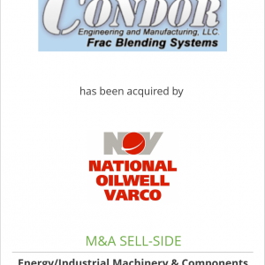 Condor Engineering & Manufacturing LLC has been acquired by National Oilwell Varco