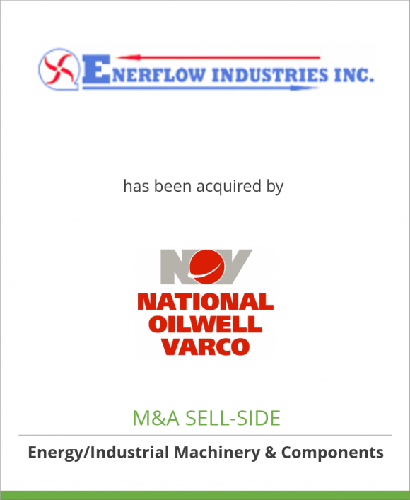 Enerflow Industries Inc. has been acquired by National Oilwell Varco