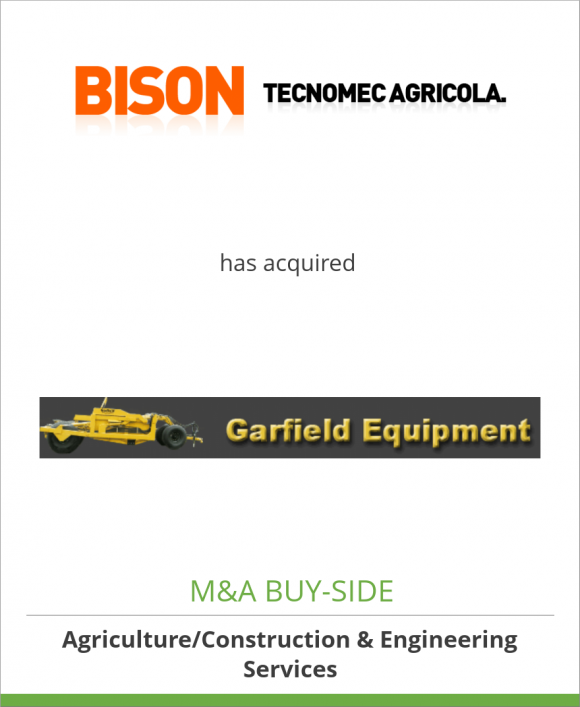 Tecnomec Agricola, S.A. de C.V. has acquired Garfield Equipment, Inc.