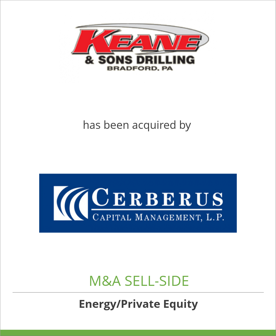 Keane & Sons Drilling Co. has been acquired by Cerberus Capital Management LP