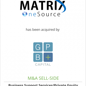MatrixOneSource has been acquired by GPB PEO Holdings, LLC