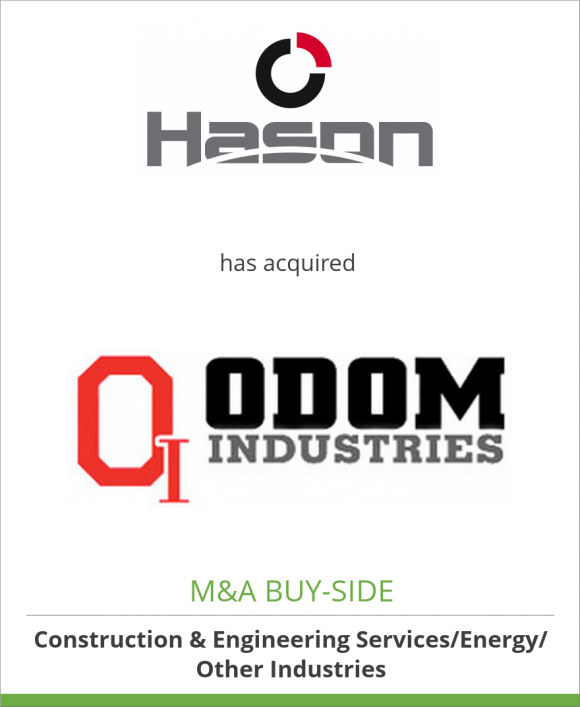 Hason Steel Inc. has acquired Odom Industries, Inc.