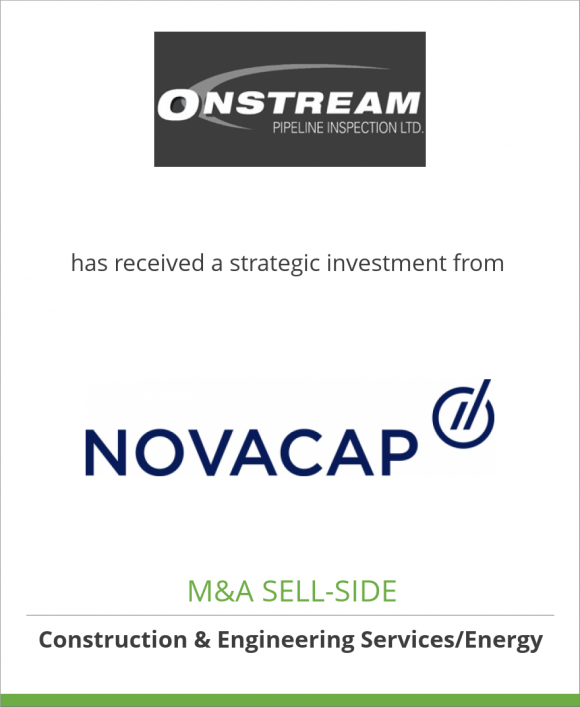 Onstream Pipeline Inspection Ltd. has received a strategic investment from Novacap