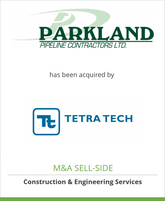 Parkland Pipeline Contractors has been acquired by Tetra Tech Inc.