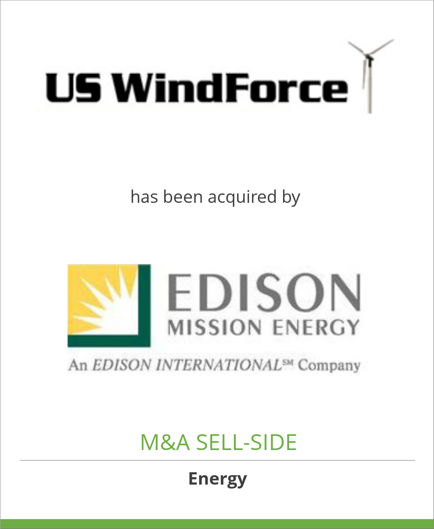 US WindForce, LLC has been acquired by Edison Mission Group