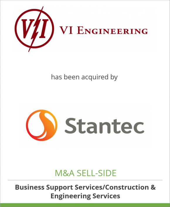 VI Engineering, LLC has been acquired by Stantec Consulting Services