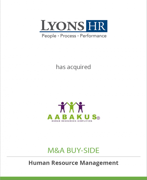 Lyons HR has acquired Aabakus, Inc.