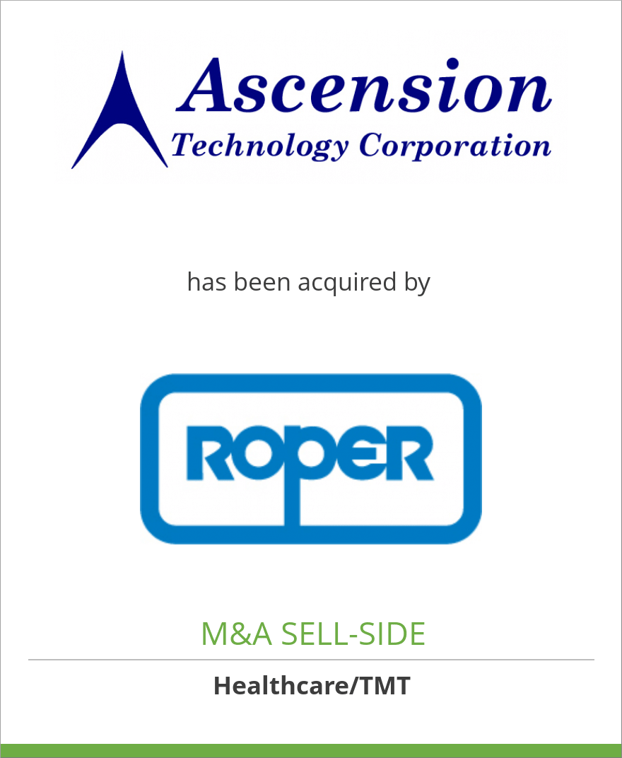 Ascension Technology Corporation has been acquired by Roper Industries