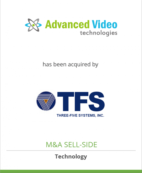 AVT, Advanced Video Technologies, Inc. has been acquired by Three-Five Systems