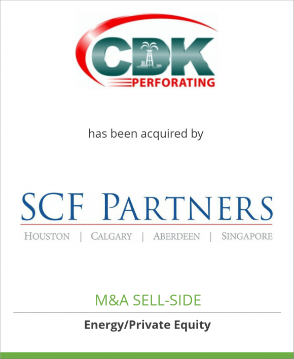 CDK Perforating has been acquired by SCF Partners
