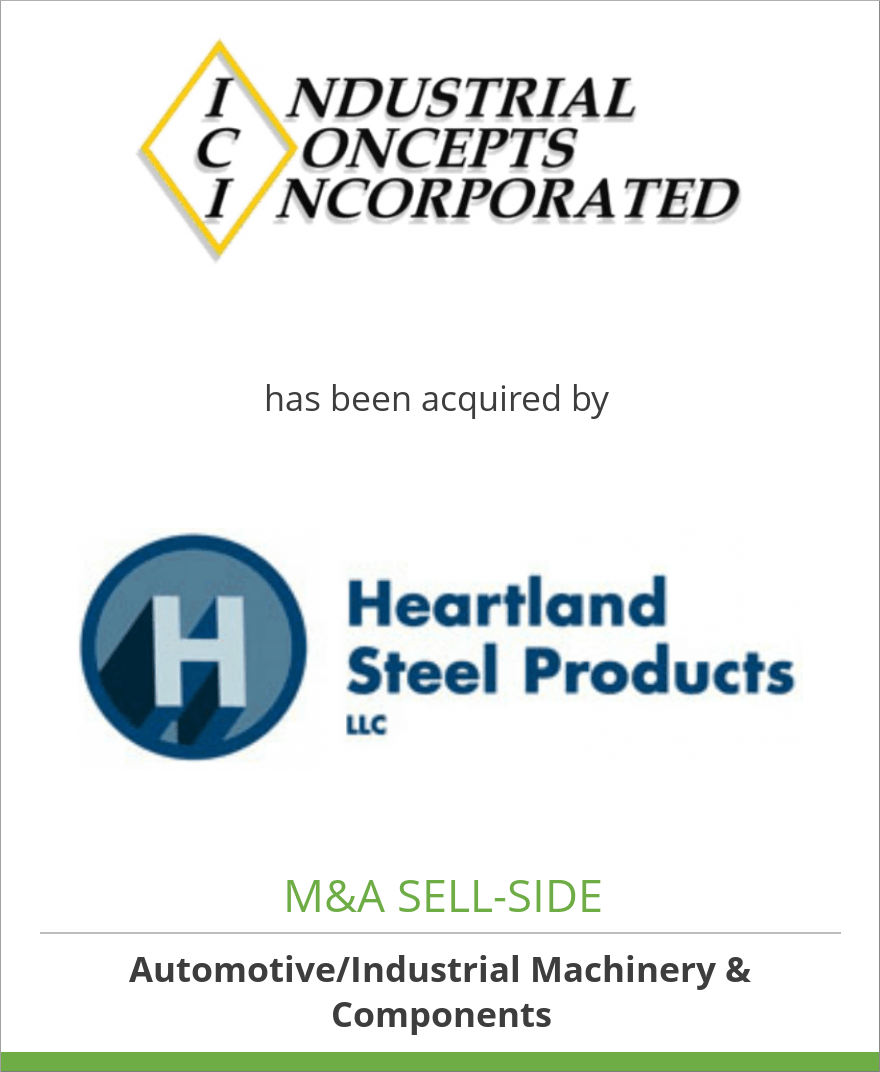 Industrial Concepts, Inc. has been acquired by Heartland Steel Products