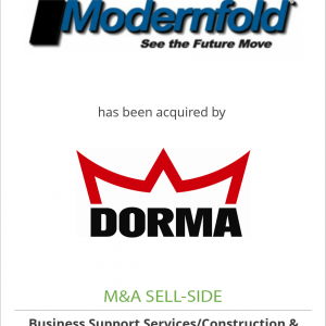 Modernfold, Inc. has been acquired by DORMA Group, North America
