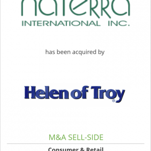 Naterra International, Inc. has been acquired by Helen of Troy Limited