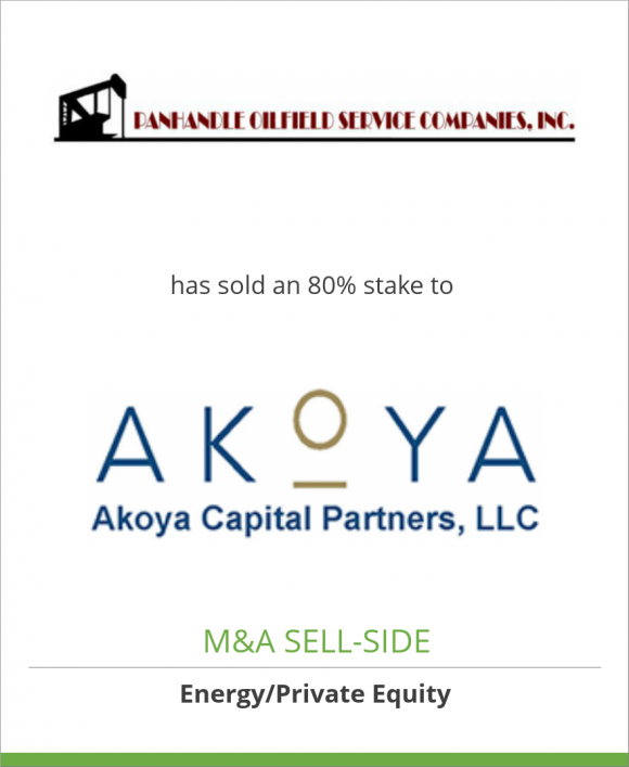Panhandle Oilfield Service has sold an 80% stake to Akoya Capital
