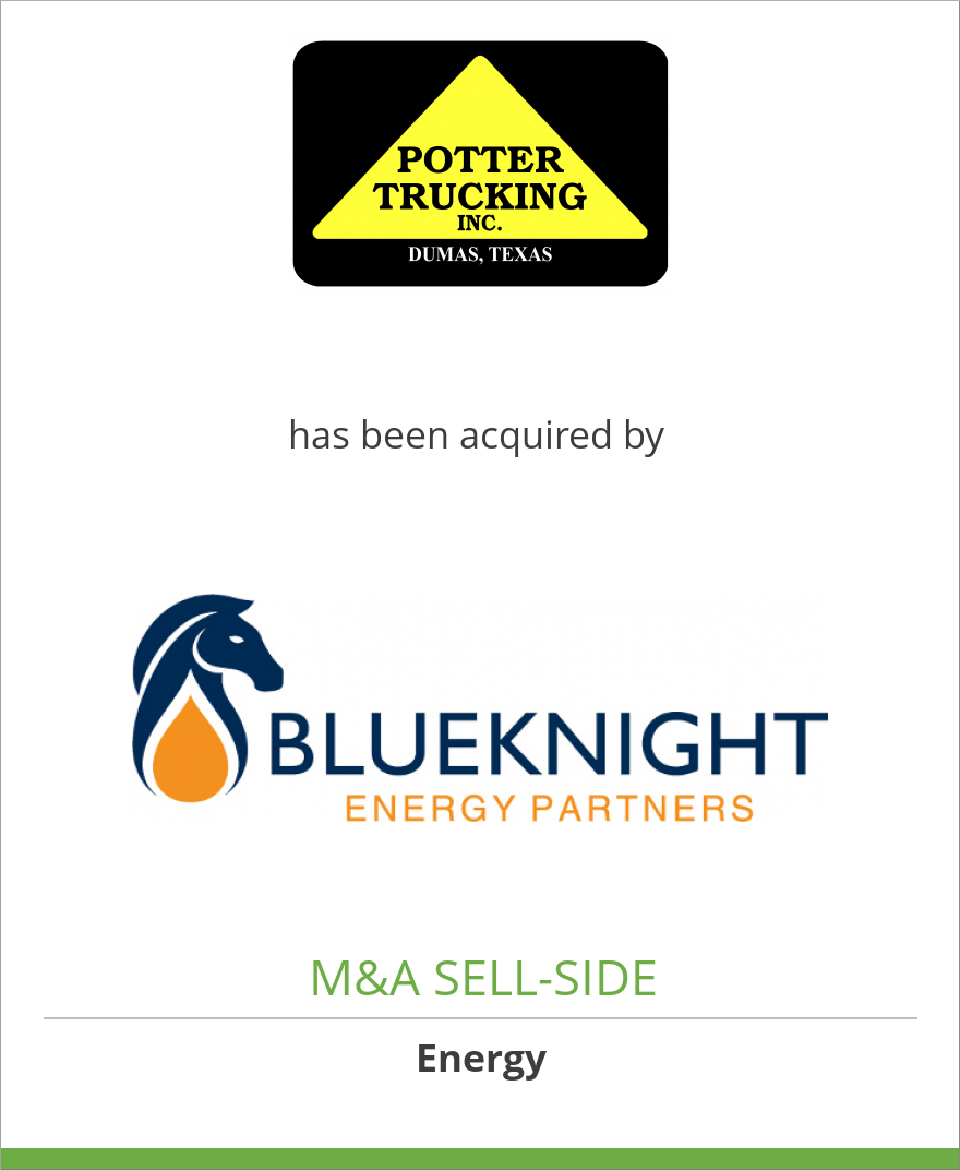 Potter Trucking, Inc. has been acquired by Blueknight Energy Partners, LP
