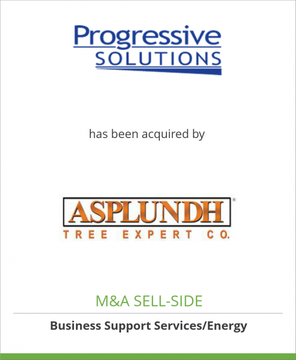 Progressive Solutions, LLC has been acquired by Asplundh Tree Expert Co.